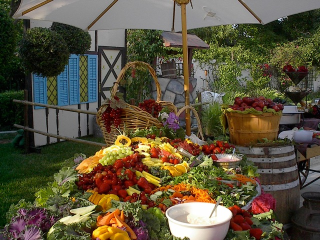 Waterfall Fruit And Veggie Displays: Fresh Ideas... : Catering A Gypsy Theme Event