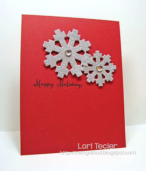 Happy Holidays card-designed by Lori Tecler/Inking Aloud-stamps and dies from Clear and Simple Stamps