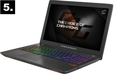 top 5 laptops for gaming