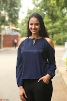 Poojita Super Cute Smile in Blue Top black Trousers at Darsakudu press meet ~ Celebrities Galleries 056.JPG