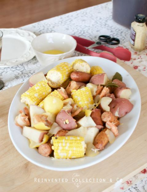 Reinvented Collection & Co.- Gluten Free Low Country Boil-Treasure Hunt Thursday- From My Front Porch To Yours