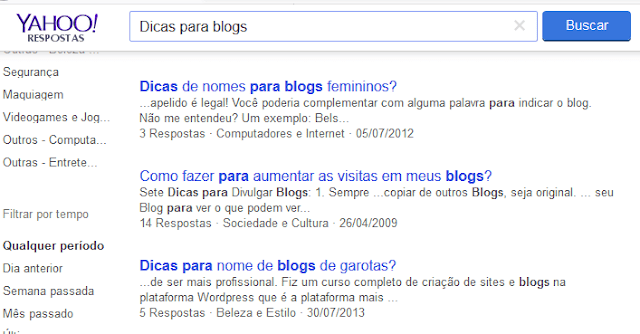 Site do Yahoo Respostas
