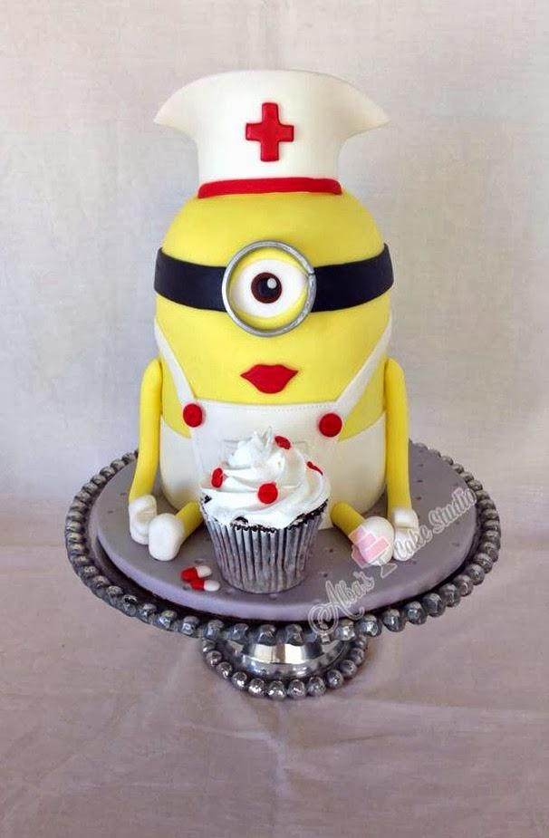 Funny Nurse Birthday Cake