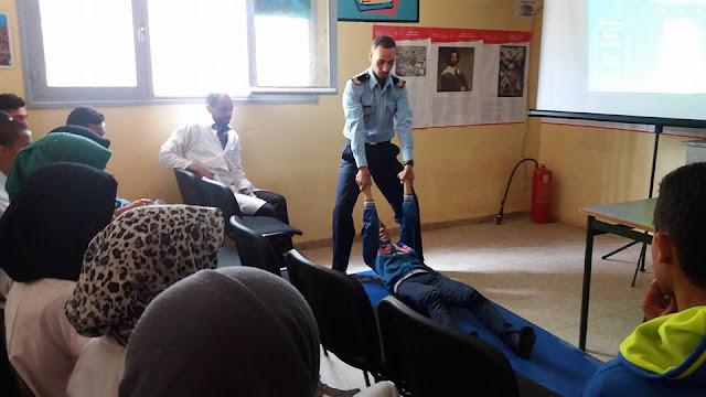 اسبوع لصحة المدرسية بثانوية محمد الجزولي التاهيلية بالمديرية الاقليمية لتيزنيت