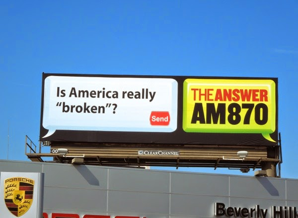 America really broken? AM 870 The Answer billboard