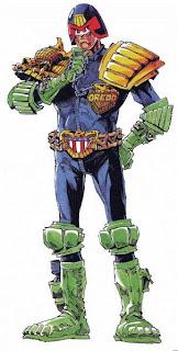 Judge Dredd comic figure