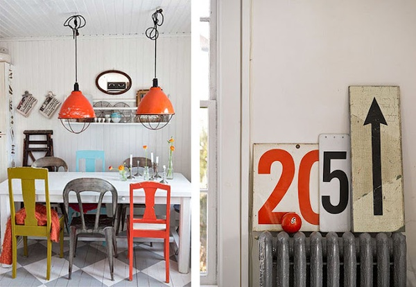 Add Whimsy With Painted And Unpainted Various Chairs.