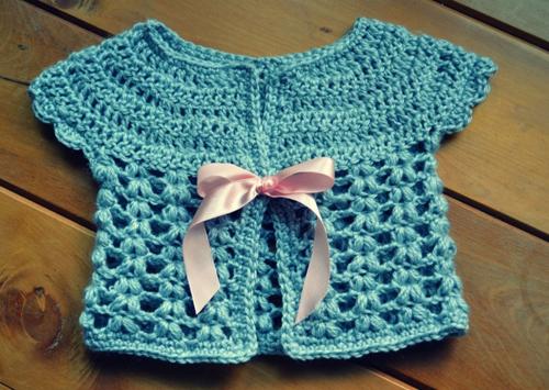 Cute Baby Cardigan - Free Pattern