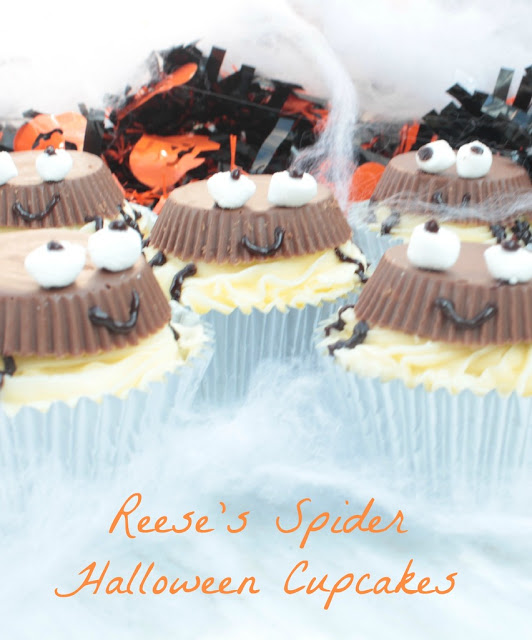 Reese's Spider cupcakes