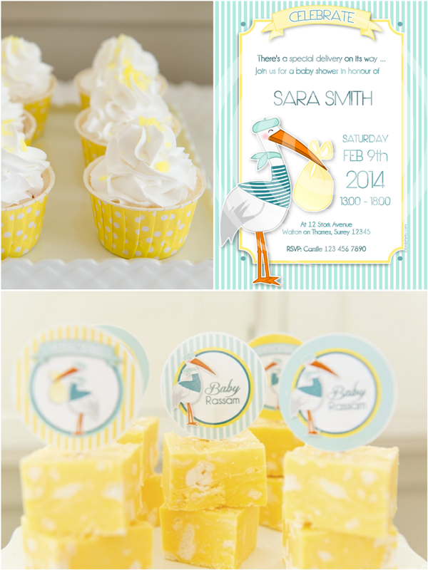 Stork Themed Baby Shower Brunch & DIY Party Ideas - BirdsParty.com