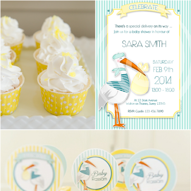 Stork Themed Baby Shower Brunch & DIY Party Ideas