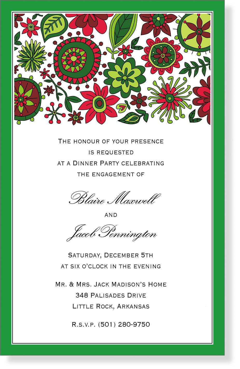 Word Christmas Party Invitation Templates Free