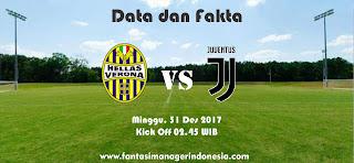 Data dan Fakta Liga Fantasia Verona vs Juventus Fantasi Manager Indonesia