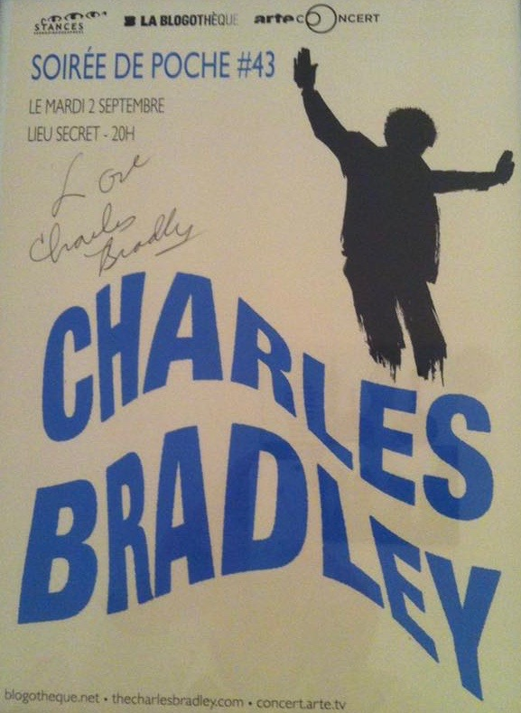 MusicLoad presents Charles Bradley, Live in Paris, France.