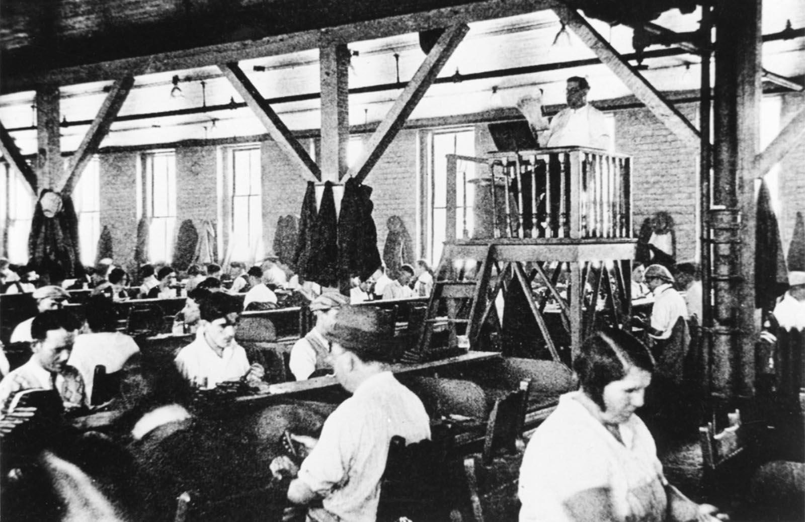 Lector in a Tampa cigar factory, circa 1930.