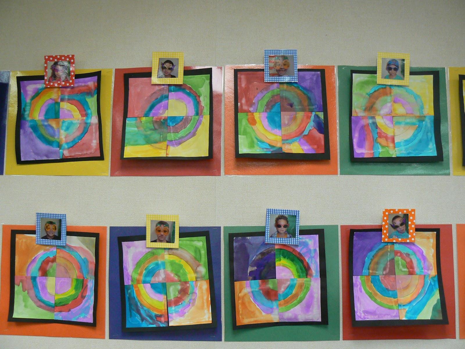 Mrs T S First Grade Class The Dot Kandinsky Class Project