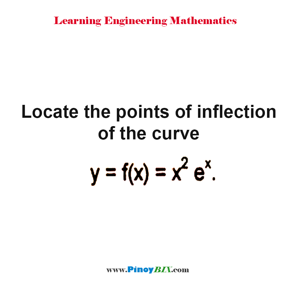 Locate the points of inflection of the curve y = f(x) = x^2 e^x.