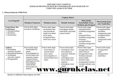 Download Kisi-kisi UN SMK/MAK Tahun Ajaran 2017-2018