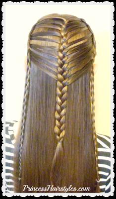 Pretty mermaid hairstyle. Braiding hack tutorial.