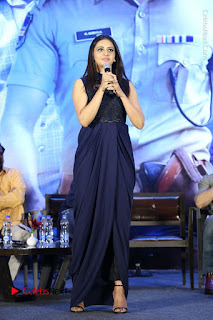 Actress Rakul Preet Singh Stills in Beautiful Blue Long Dress at Dhruva Salute to Audience Event  0066.JPG