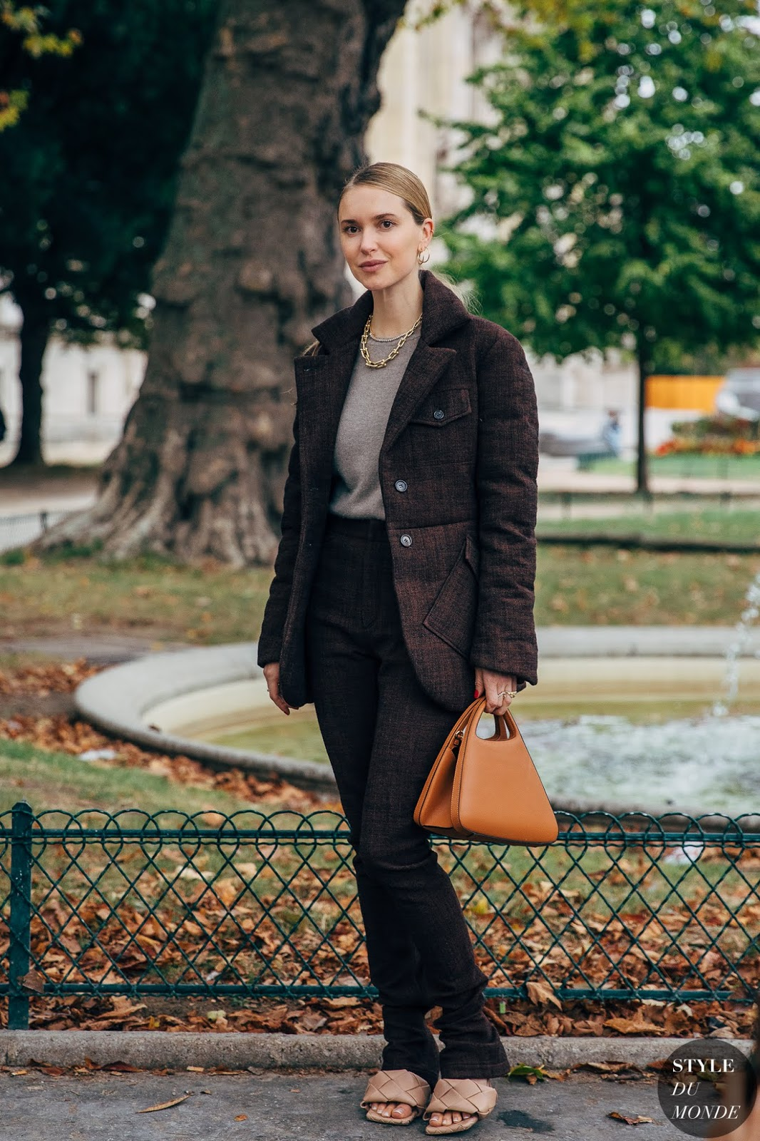 We're So Inspired by Pernille Teisbaek's Outfit — Street Style — Bottega Veneta Mules