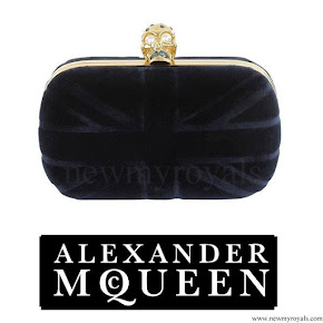 Crown Princess Victoria Alexander McQueen Velvet Britannia Clutch