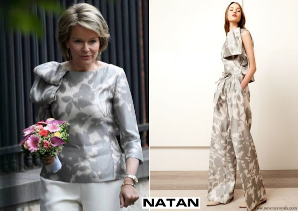 Queen Mathilde NATAN blouse from Natan Graphics Couture