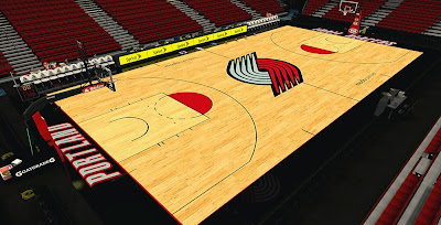 NBA 2K14 Trail Blazers New Court HD Mod