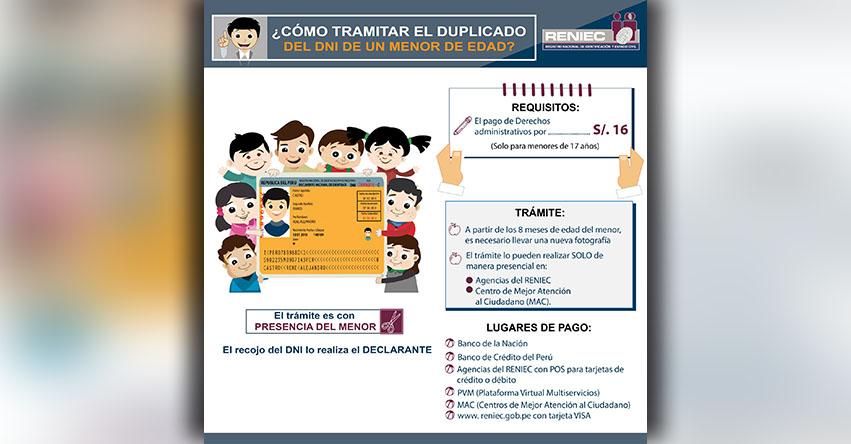RENIEC: Cómo tramitar el DNI amarillo para menores de edad - www.reniec.gob.pe