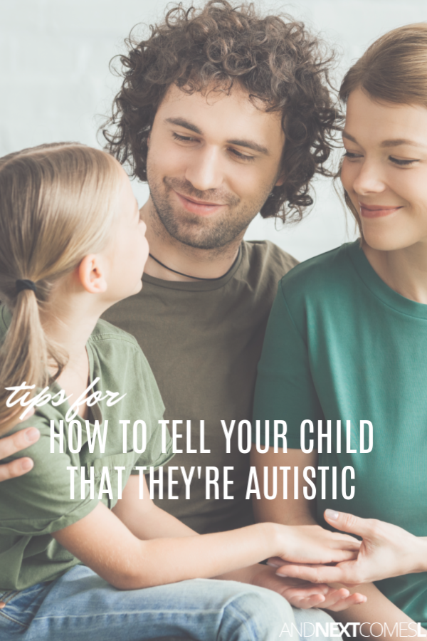 Tips and resources for how to explain to my child that they have autism