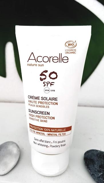 Crème solaire visage SPF50 bio Acorelle