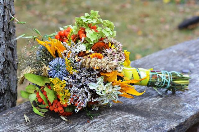 jesienna wiązanka na ślub