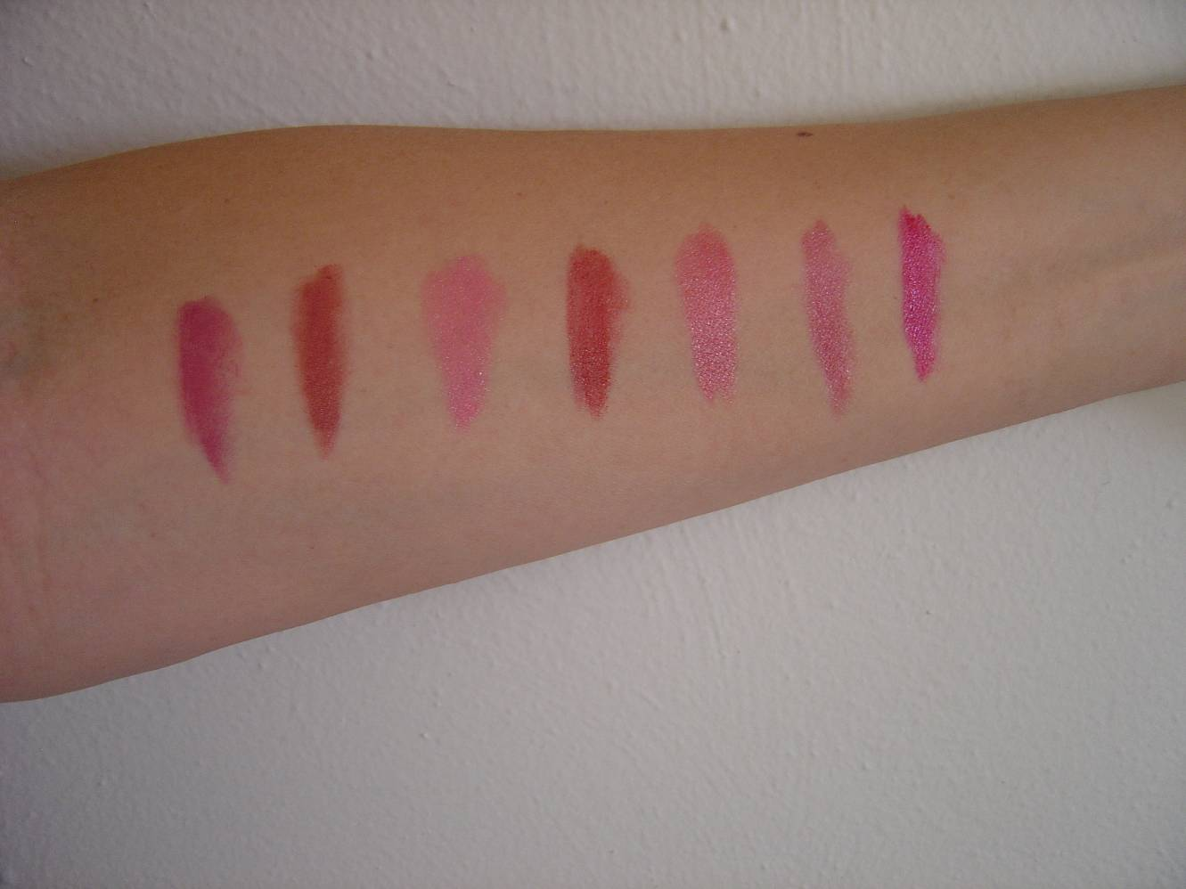 swatches of the eight lipsticks.jpeg