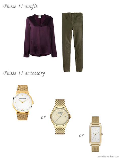 Choosing a simple, classic gold wrist watch