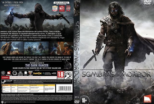 Capa Terra Média Sombras de Mordor PC