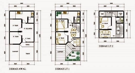 Foto Denah Rumah Minimalis 2 Lantai Type 36
