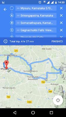 Screenshots of adding multiple destinations in Google Maps app