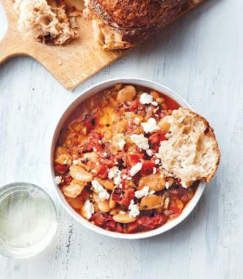 Vegan Instant Pot: Greek-Style Lima Beans with Almond Feta Recipe