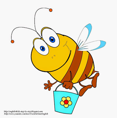honey bee clipart with a bucket