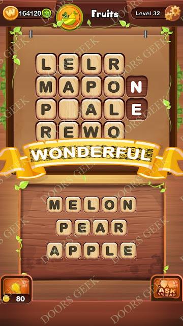 Word Bright Level 32 Answers, Cheats, Solutions, Walkthrough for android, iphone, ipad and ipod