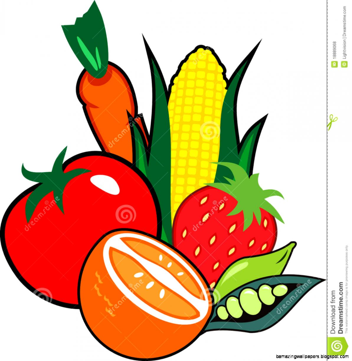 Fruit And Vegetable Clip Art   Amazing Wallpapers