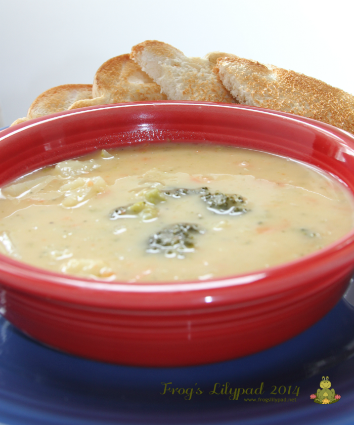 CREAMY GARDEN CHOWDER-A QUICK, FRUGAL MEAL THAT IS SURE TO PLEASE EVERYONE. A RECIPE THAT CALLS FOR ANY GARDEN VEGETABLE THAT SUITS YOUR TASTES AND SO GOOD.