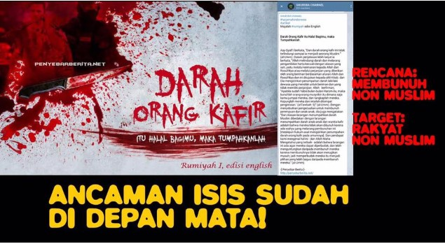 Duh Ngeri, Begini Isi Telegram Teroris Yang di Blokir Oleh Kementrian Kominfo RI, Share !!!