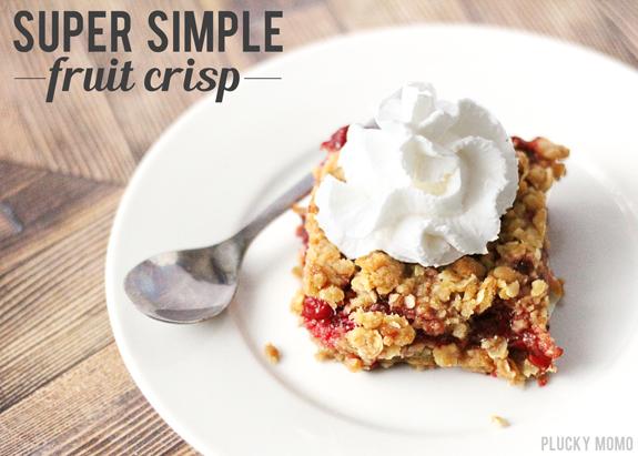 Year of FHE: RECIPE // Super Simple Fruit Crisp
