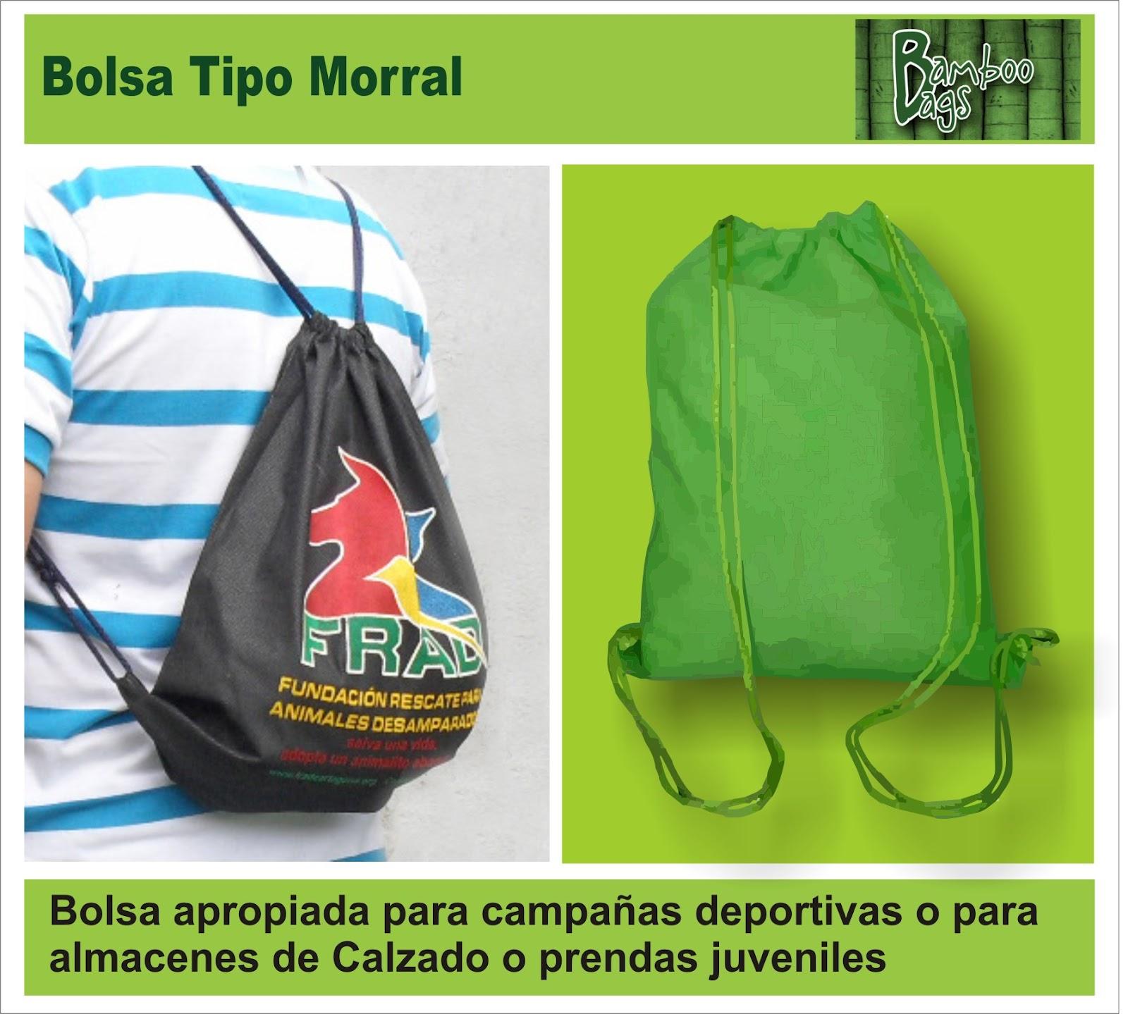 2b4e50d83 BOLSAS ECOLOGICAS PUBLICITARIAS: Bolsa Tipo Morral