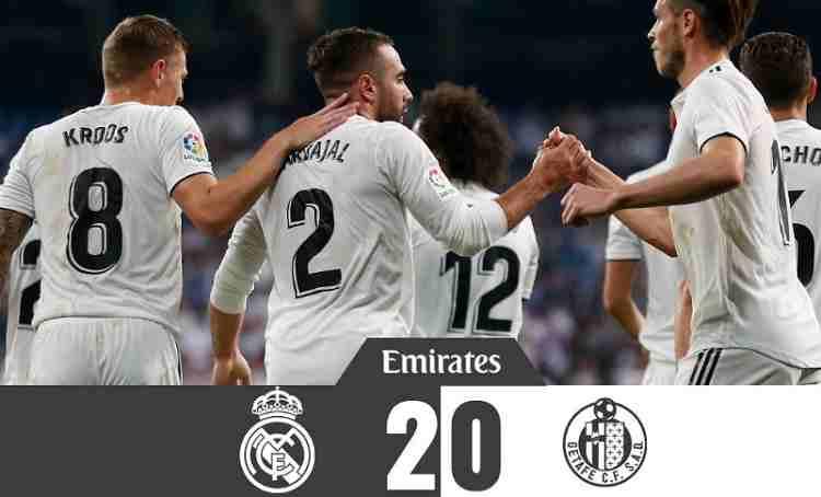 Hasil Real Madrid vs Getafe Skor Akhir 2-0 [ Laliga 2018 ]