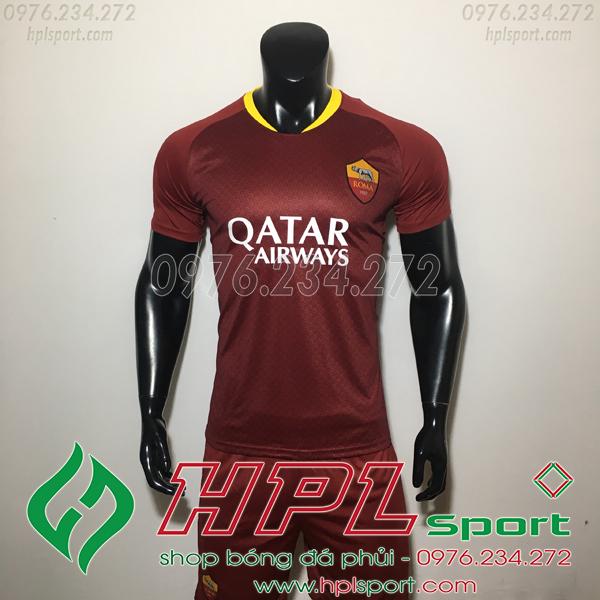 Áo đá bóng câu lạc bộ AS Roma bã trầu 2019