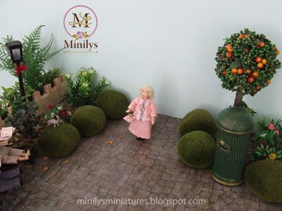 """minilys miniatures"" ""garden"" ""doll"" 1:12 buzon postal"