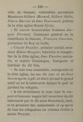 Livre Histoire de sainte Procule et de son culte