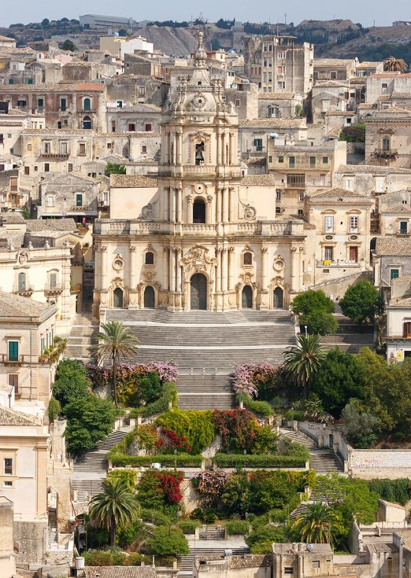 Modica is a historic town in Sicily famous for its chocolate and Baroque architecture.
